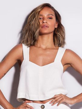 Top Cropped Off White - Hope