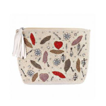 Clutch Bordada Lolly Off White - Clutch Bordada Lolly Off Wh