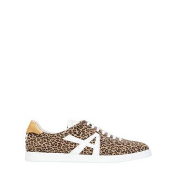 Tênis The A De Camurça Animal Print - Aquazzura