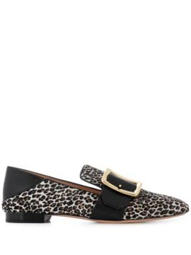 Leopard Print Loafers - Bally