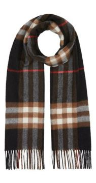 The Classic Check Cashmere Scarf - Burberry