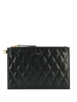 Quilted Logo Clutch - Givenchy