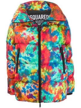 Printed Puffer Jacket - Dsquared2