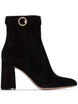 85mm Buckled Ankle Boots - Gianvito Rossi
