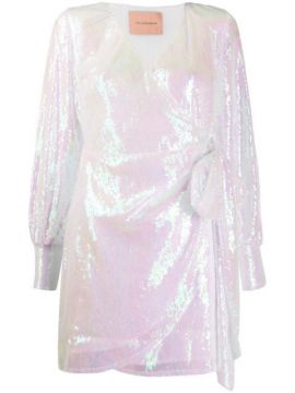Carly Sequinned Wrap Dress - Andamane