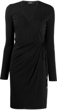 Long-sleeved Wrap Dress - Dsquared2