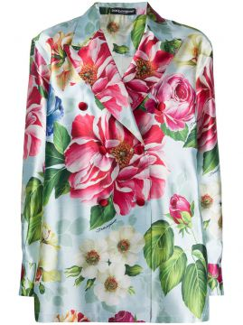 Floral Print Double-breasted Blazer - Dolce & Gabbana