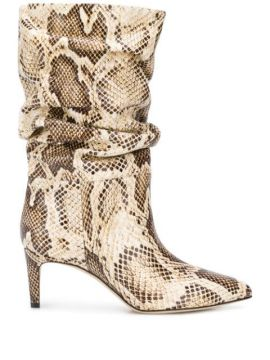 Snake-effect 65mm Ankle Boots - Paris Texas