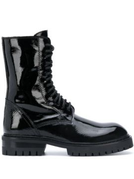 Patent Leather Lace-up Boots - Ann Demeulemeester
