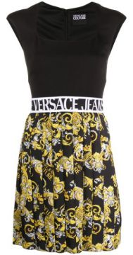Baroque-print Flared Skirt - Versace Jeans Couture