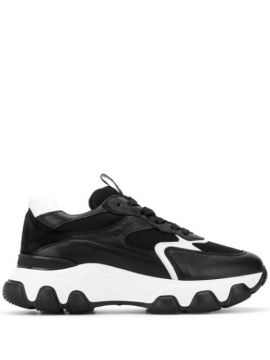 Chunky Contrast Sole Sneakers - Hogan