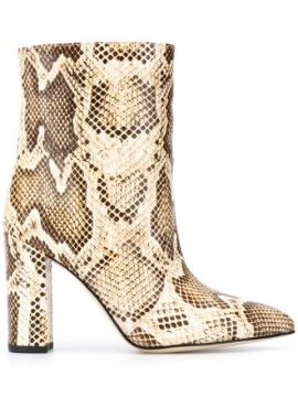 Pointed Snakeskin Effect Boots - Paris Texas