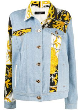 Acanthus Panelled Denim Jacket - Versace