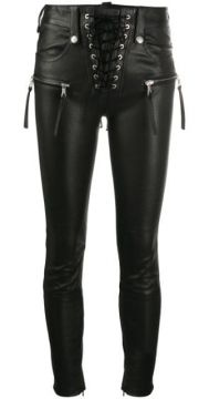 Lace-up Cropped Trousers - Unravel Project