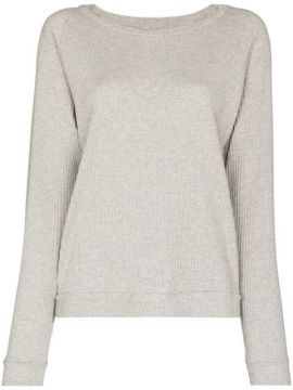 Crew-neck Ribbed Sweatshirt - Baserange