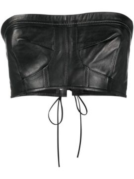 Cropped Leather Top - Manokhi