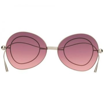 Oversize-lense Sunglasses With Circular Arm Detail - Percy L