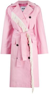 Floral-panel Trench Coat - Msgm