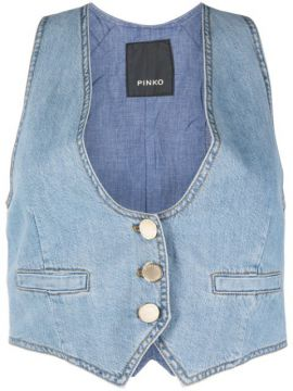 Colete Jeans Clementina - Pinko