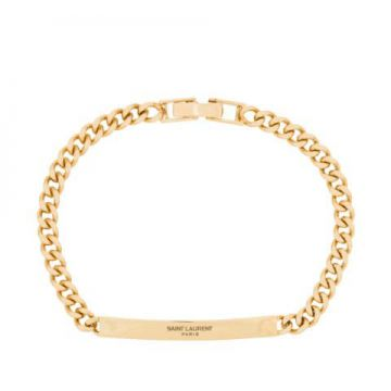 Pulseira De Corrente Com Logo - Saint Laurent