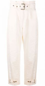 Cropped High-waisted Trousers - Pinko