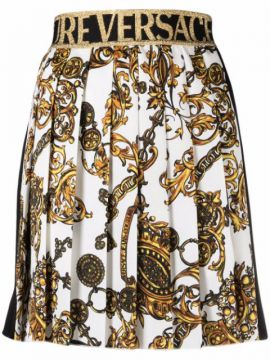 Baroque-pattern Print Skirt - Versace Jeans Couture