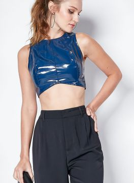Top Cropped Vinil - Colcci