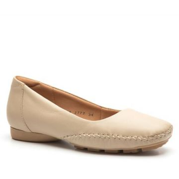 Sapato Feminino 2777 em Couro Bege Doctor Shoes-Bege-36