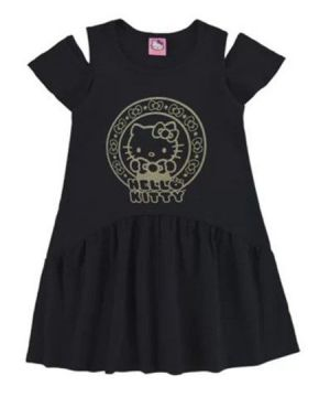 Vestido Hello Kitty - Preto - Marlan