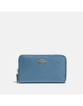 Carteira Medium Zip Coach - Azul