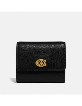 Carteira Turnlock Small Wallet Coach - Preto