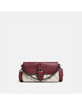 Bolsa Beat Crossbody Clutch Coach - Vinho