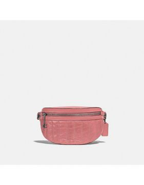 Pochete Chain Quilted Coach - Rosa