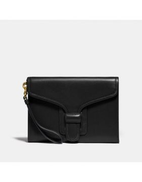 Bolsa Courier Clutch Coach - Preto