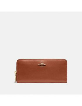 Carteira Slim Accordion Zip Coach - Marrom