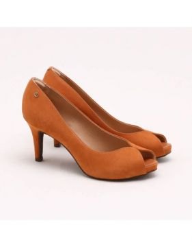 Peep Toe Nobuck Toffee - Dumond