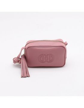 Bolsa Shoulder Bag Couro Rose Vintage - M - Dumond