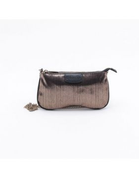 Bolsa Shoulder Bag Malha Bronze - P - Dumond