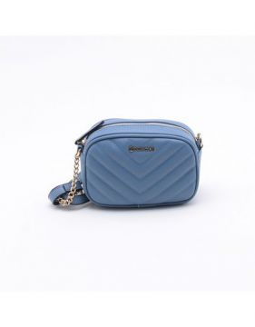 Bolsa Shoulder Bag Matelassê Azul Pacífico - Dumond