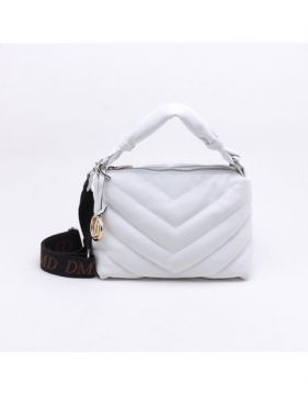 Bolsa Shoulder Bag Matelassê Bianco - P - Dumond