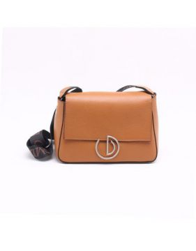Bolsa Shoulder Bag Couro Toffee - P - Dumond