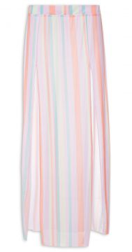 Saia Transparence Day Light Stripes - Laranja - Gringa.com