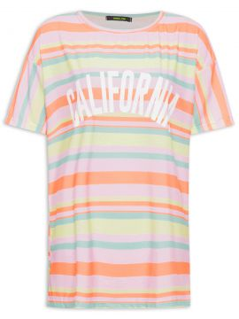 T-shirt Day Light Stripes Califórnia Slo - Branco - Gringa.c
