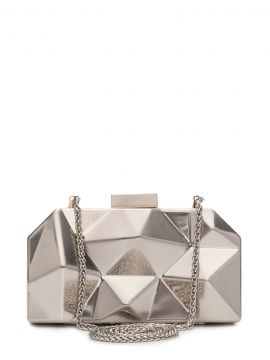 Bolsa Clutch Future Gold - Prata - Schutz