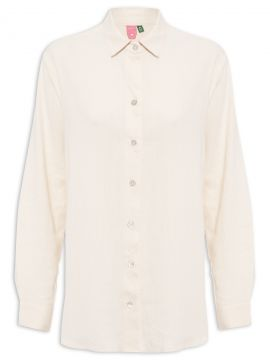 Camisa Manga Longa - Off White - Farm