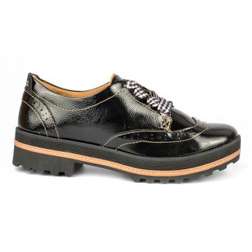 Sapato Dakota Oxford Verniz Preto - Dakota