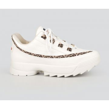 Dad Sneaker Dakota Animal Print Branco