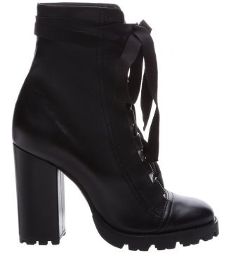 Combat Boots Sola Tratorada Leather Black - Schutz