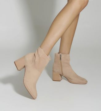 New Boot Evasê Suede Honey - Schutz