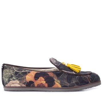 Loafer Unissex Web Flowers - Preto - Dotz